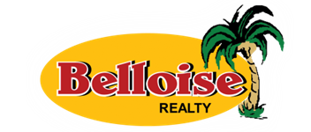 Belloise Realty logo and homepage